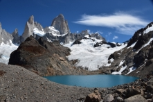 one of the three lakes in front of Fitz Roy II