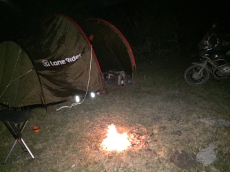 campfire near Cochrane