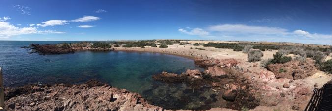 red rocks Punta Tomba panorama