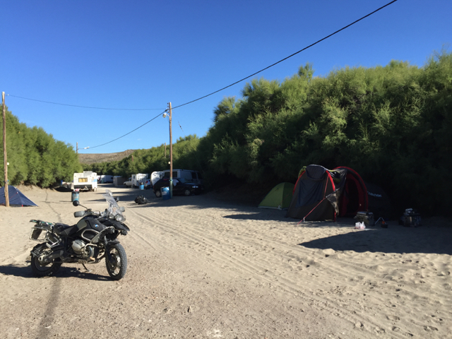 camp ground Penisula Valdes Monday morning