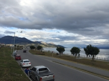 harbour Ushuaia w/Queen Mary 2 leaving