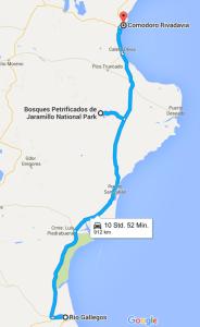Rio Gallegos to Comodore Rivadavia