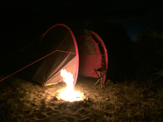 camp fire next to RP21