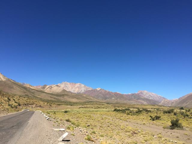 way to Las Leñas