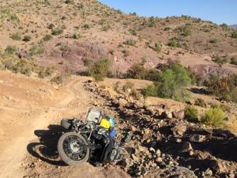 dirt road from Cogoti to La Ligua fall down