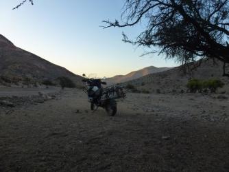 camp site way from Hurtado to Vicuña