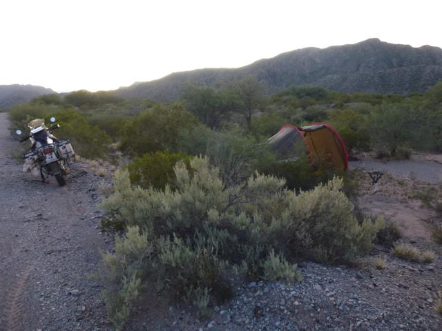 wild camp on Ex-RN 150