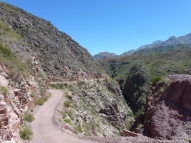 old road beside RN40 to Chilecito
