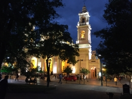 Catedral of Salta by night