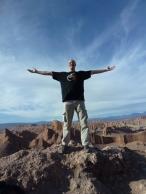 on top of the hill Valle de la Luna