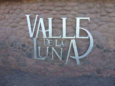 entrance Valle de la Luna