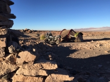 camp site way from Calama to Ollagüe