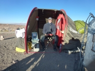 breakfast camp site way from Calama to Ollagüe