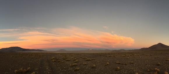 sunset near Laguna Colorado