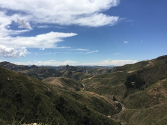 way from Sucre to Oruro on RN6