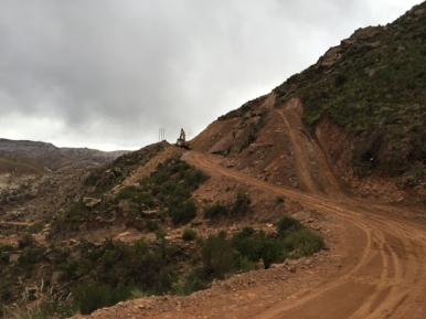 closed road to Oruro