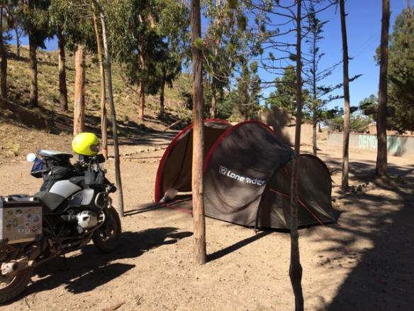 bush camp on my way to Oruro