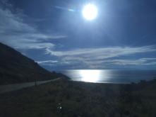 sun over Titicaca lake