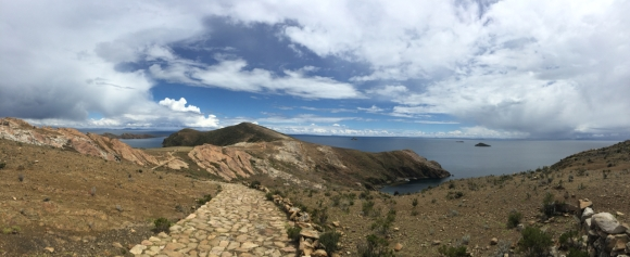 Isla del Sol with roca sagrada