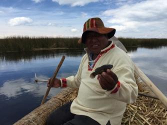 fishing with Victor Uros Khantati