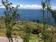 Taquile with lake Titicaca