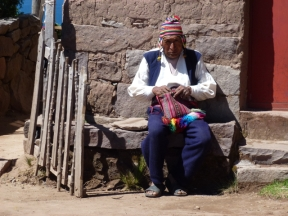 old man on Taquile