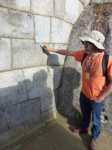 Cesar guide in Machu Picchu