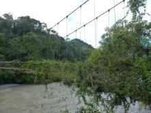 old bridge in Pilcopata