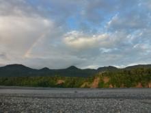 rainbow near loam wall