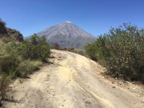 volcano Místi on my way to Chivay