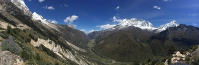 way from Huaraz to Chacas panorama