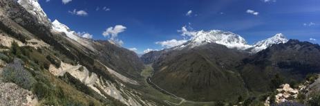 way from Huaraz to Chacas panorama