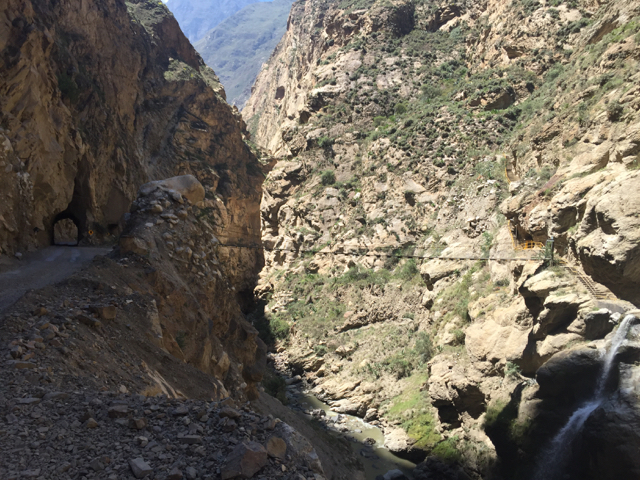 way from Yungay to Yuracmarca