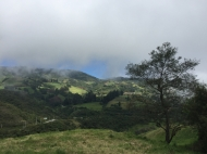 way from Ingapirca to Riobamba