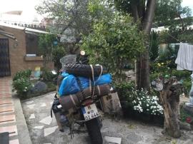 patio hostel Oasis Riobamba
