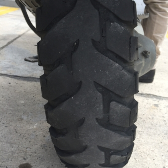 rear tyre after 17.000km