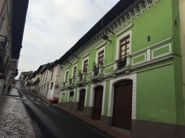 street in Quito old town