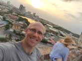 fort in Cartagena selfie
